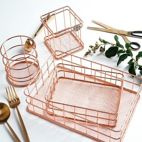 Органайзер из металла, цвет – розовое золото