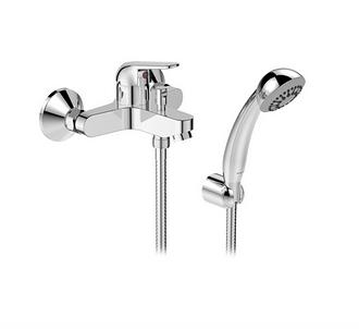 Однорычажный смеситель для ванны с душем VIDIMA Файн