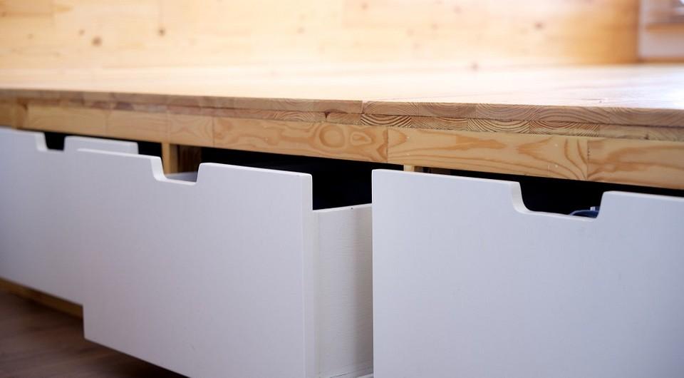 Как сделать ящик под кровать своими руками
