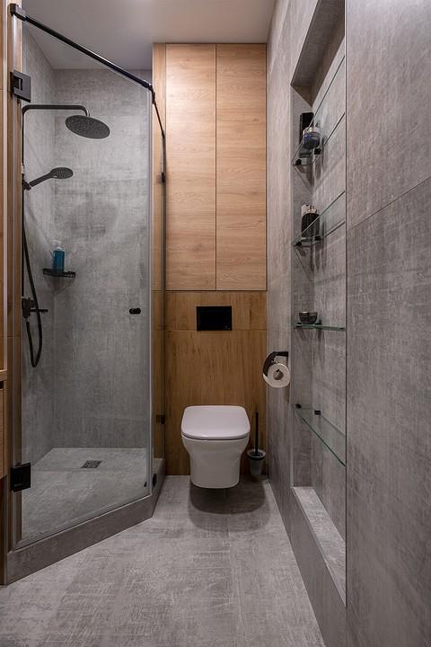 В ванной комнате хранение косм&...