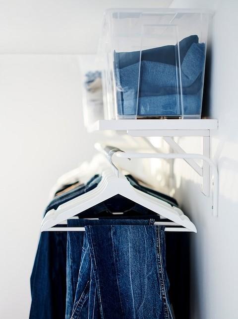 На штанге поместится одежда на...
