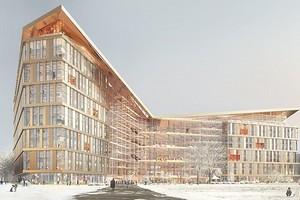 Стеклянные фасады и открытые террасы под крышей: как будет выглядеть новая штаб-квартира «Яндекса»