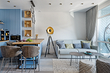 5 красивых квартир площадью 45 кв. м с продуманным дизайном