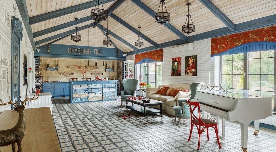 Яркий проект дома, в котором всегда ждут гостей