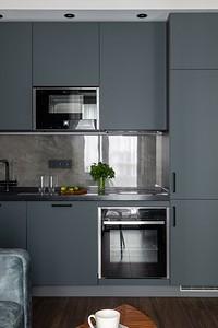 Классическая планировка: 50 фото линейных кухонь