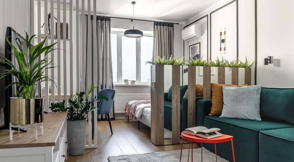 Однокомнатная квартира с гостиной-спальней и мебелью ИКЕА