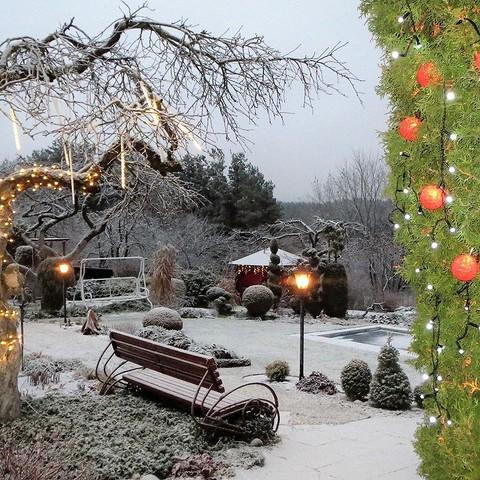 11 уютных идей декора для вашего сада зимой