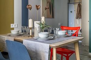 7 обеденных зон в маленьких квартирах, оформленных дизайнерами