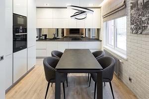 Кухонный стол в интерьере кухни (54 фото)