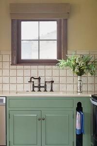 Небанальный выбор: фисташковый цвет в интерьере кухни (70 фото)