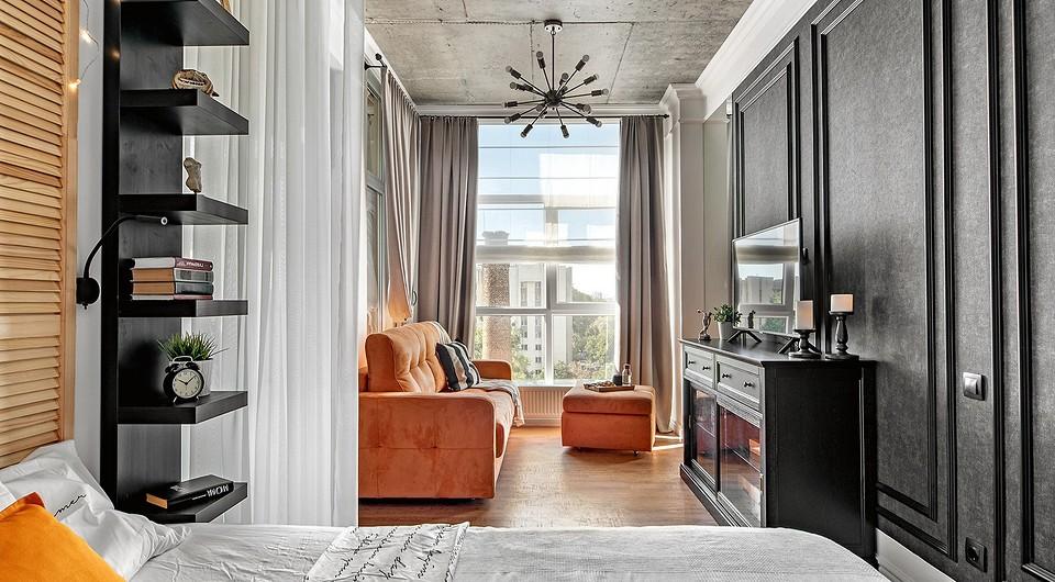 Из однушки в двушку: маленькая квартира в Симферополе с гостиной, спальней и гардеробной
