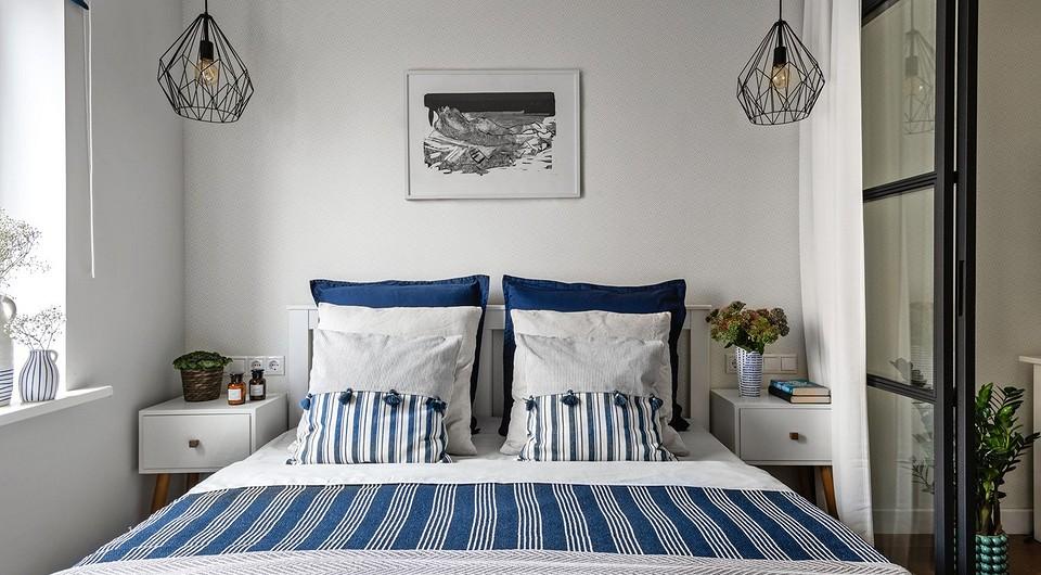 Интерьер спальни, в которой уме...