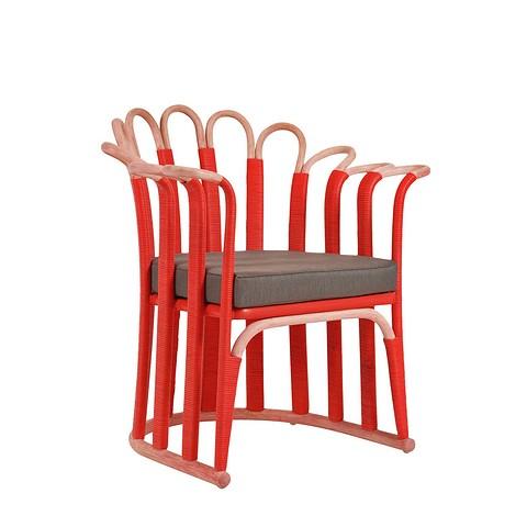 Кресло Malaya из ротанга, выгнутого&#...