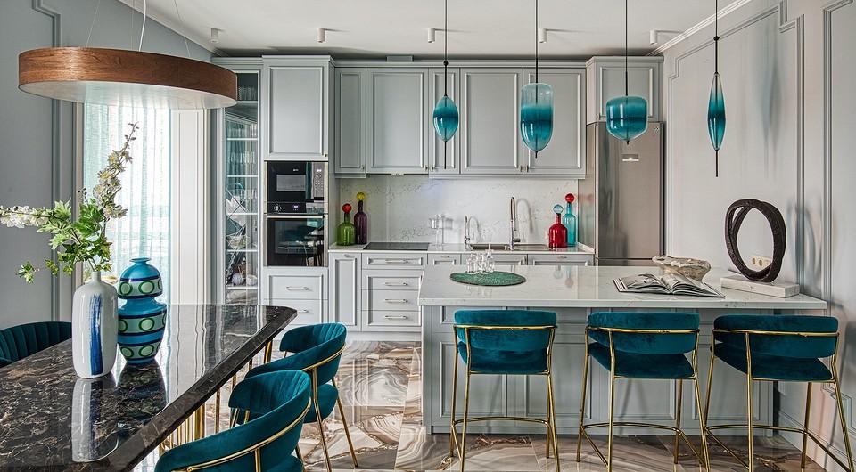 Трёхкомнатная квартира в Москве с яркими деталями и продуманной эргономикой
