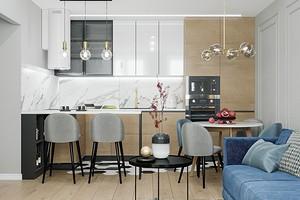 Как оформить очень маленькую кухню-гостиную: 5 советов по дизайну и 64 фото для вдохновения