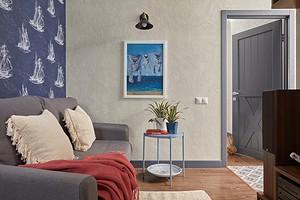 Из двух комнат — четыре: квартира в Реутове с грамотной планировкой и морским интерьером
