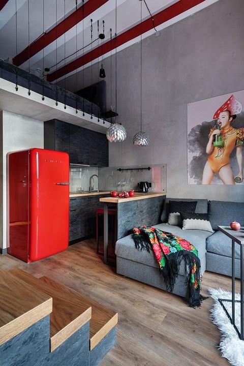 Кухня-гостиная четко зонирова&#...