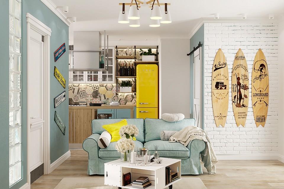 Харизматичная и функциональная квартира с морскими деталями
