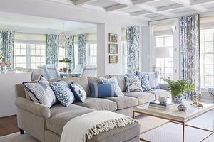 Оформляем гостиную в голубых тонах: советы по подбору гаммы и 71 фото