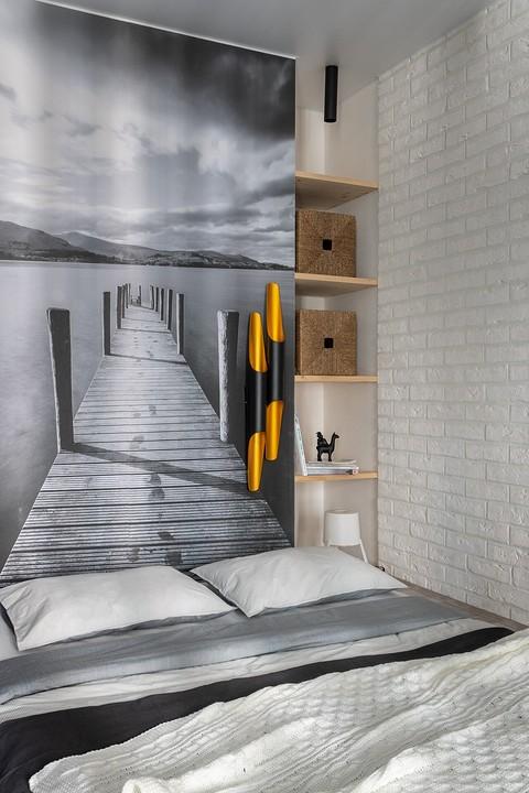 Спальня расположена на подиум&#...