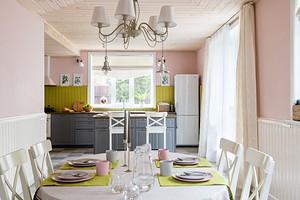 Секреты красивой отделки кухни вагонкой и 71 фото интерьеров