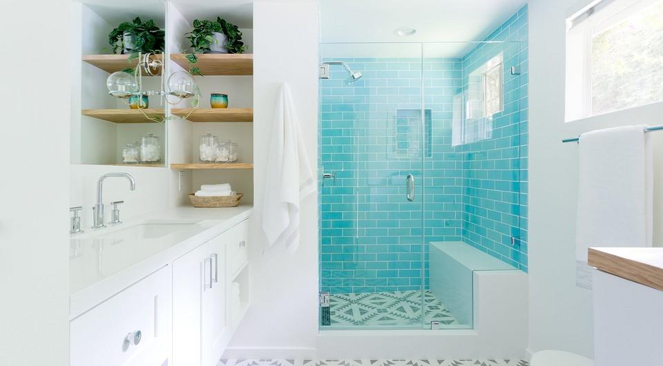 Свежо и эффектно: оформляем дизайн бирюзовой ванной комнаты (83 фото)