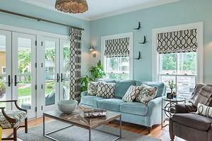 Оформляем гостиную в бирюзовых тонах: лучшие дизайнерские приёмы и сочетания цветов