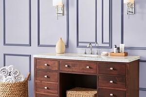 Как использовать фиолетовый в дизайне ванной комнаты и не пожалеть: советы и 53 фото