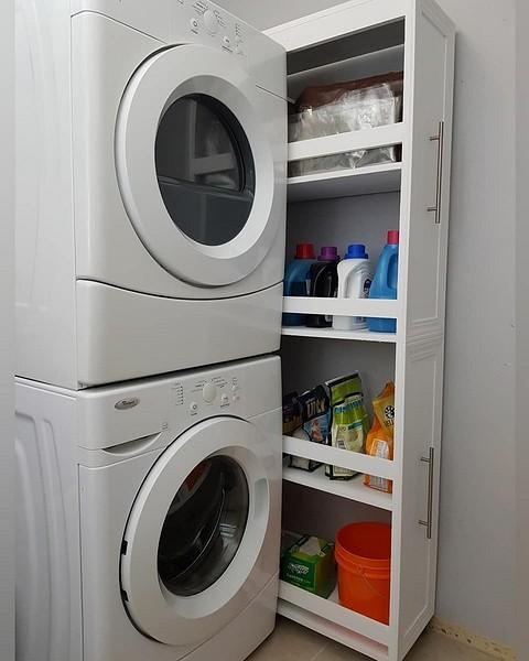 Кстати, стиральную и сушильную...