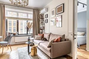 Дизайн проходной гостиной (70 фото)