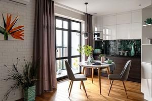 Оформляем дизайн кухни площадью 10 кв. м с балконом: 3 примера от профи и полезные советы