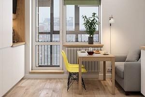 Интерьер студии 25 кв. м с балконом: 3 проекта, в которых площадь использована по максимуму