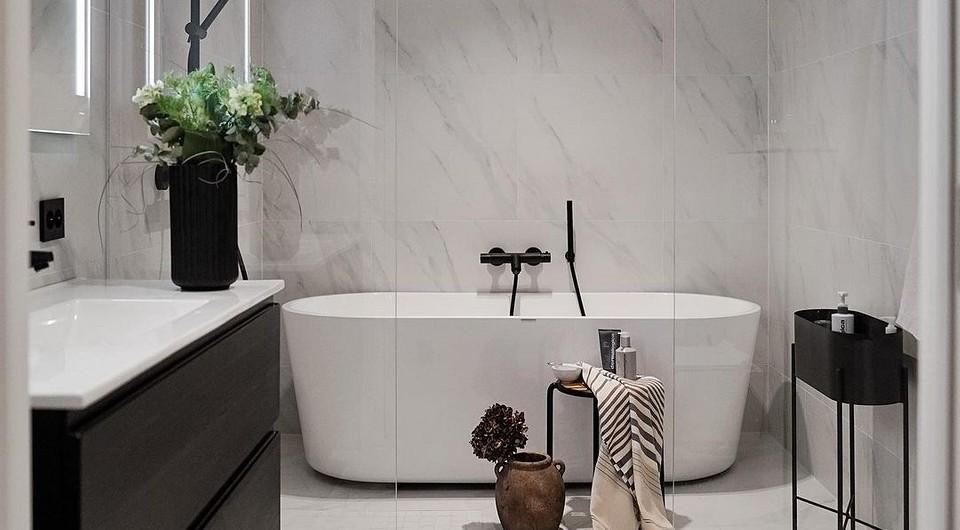 7 по-настоящему скандинавских ванных комнат