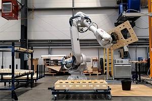 Британская компания представила инновационный способ строительства домов при помощи робота