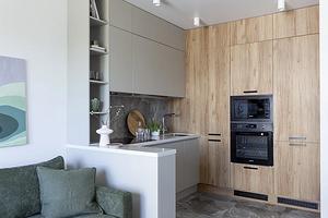 7 стильных кухонь-гостиных, где красиво отделили зону готовки