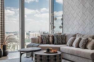До и после: потрясающий интерьер квартиры в одной из высоток «Москва-Сити»