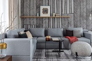 Никогда не выйдет из моды: серый диван в интерьере