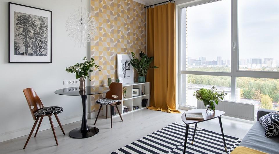 Стильная студия с винтажной мебелью для сдачи в аренду