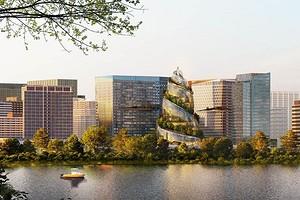 Спиральное здание из стекла и зеленые деревья: как выглядит проект штаб-квартиры Amazon