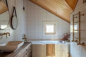 Оформляем ванную в деревянном доме (39 фото)