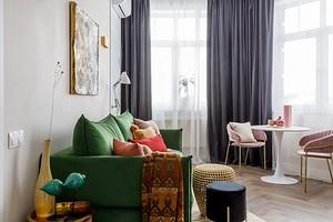 Уютная квартира площадью 50 кв. м, в которой задействовали каждый угол