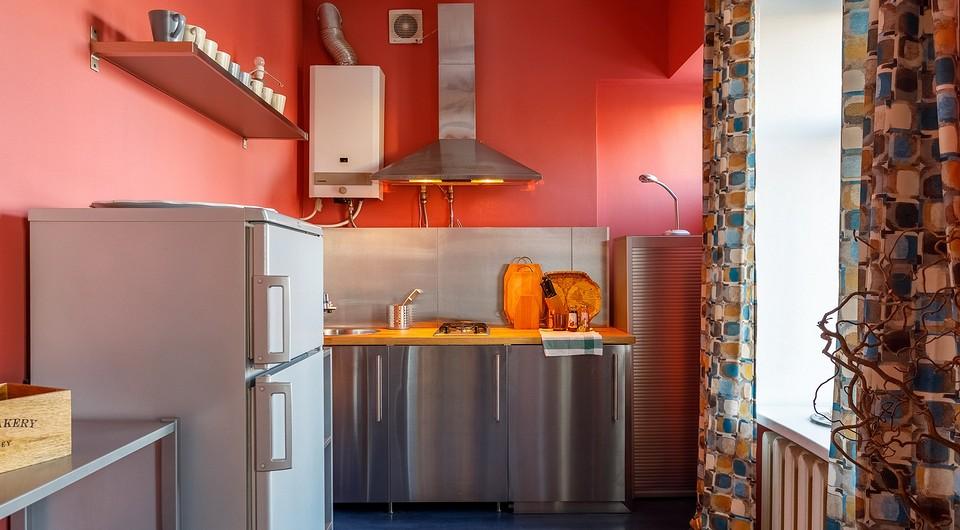 Дизайн кухни с газовой колонкой (25 фото)