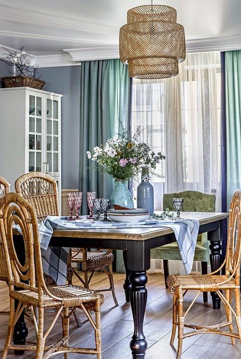 Массивный обеденный стол сдел&#...