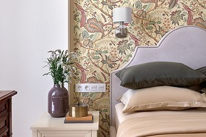 Для вдохновения: 6 красивых сочетаний обоев и краски на одной стене