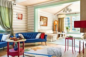 Как обновили деревянный сруб с помощью краски и новой мебели