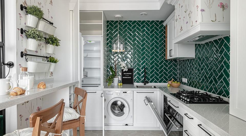 Кухонный гарнитур спроектиро...