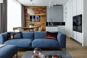 Стильная квартира для мужчины с мини-спортзалом и сауной