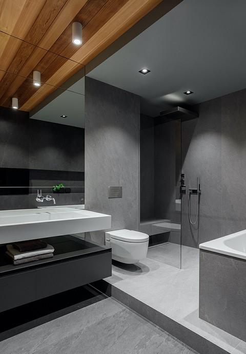 Ванная комната разделена на дв&...