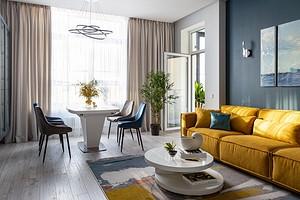 Просторная квартира с весенним настроением для семейной пары