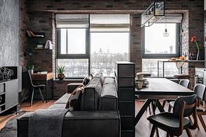 Удобная квартира в стиле лофт с интересными деталями